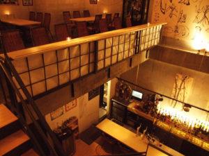 2階から見下ろした吹き抜け具合がわかる店内写真