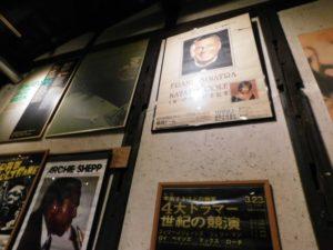 店内のジャズポスター