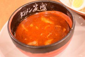 激辛 味噌魚介五目つけ麺のスープのみ