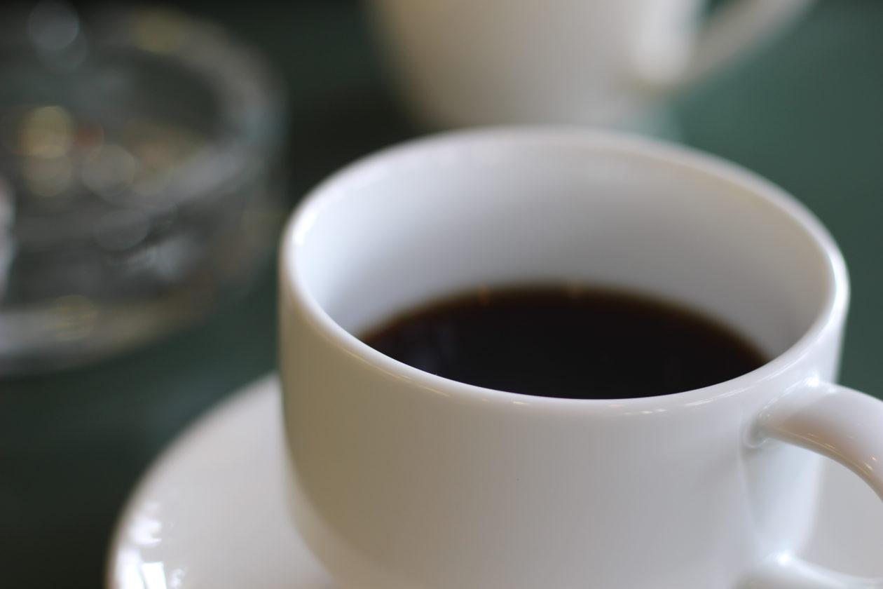 食後の淹れたてコーヒー