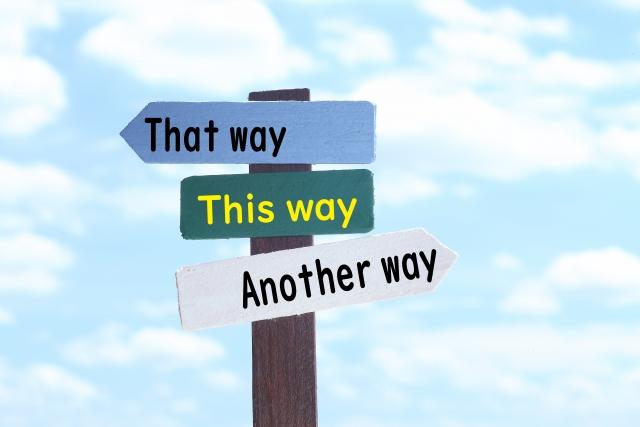 写真:3つの道