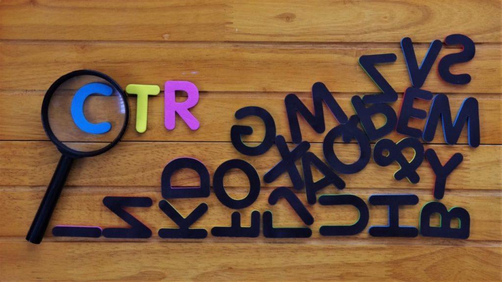 画像:CTRのアルファベットが並んでいる